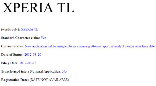 Xperia TL  โผล่ในสหรัฐอเมริกา!!