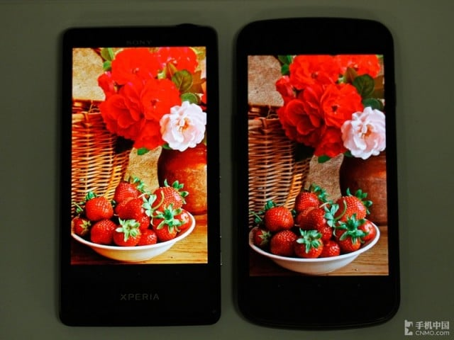 จอ  Sony Xperia T (TFT) VS Galaxy Nexus (Super AMOLED )
