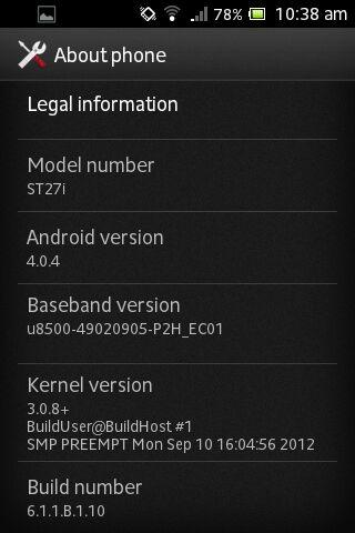 Xperia go  ได้อัพ ICS ก่อนเพื่อน !!!