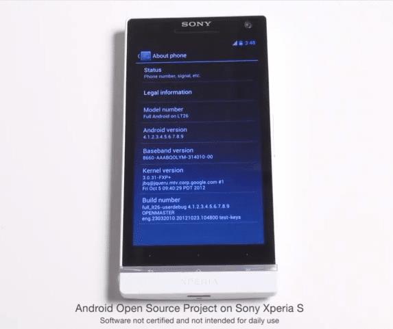 Sony แจ้งความคืบหน้าเกี่ยวกับ Xperia S AOSP Project !!