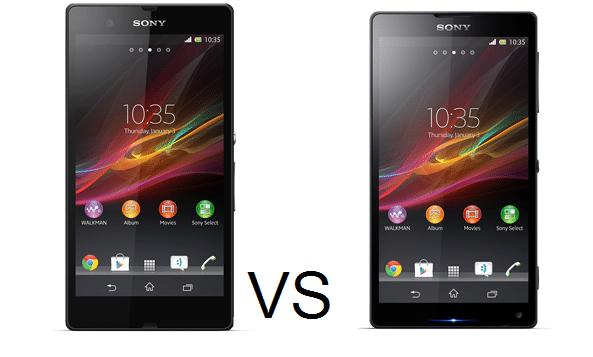 Sony Xperia Z (Yuga) vs Xperia ZL (Odin)