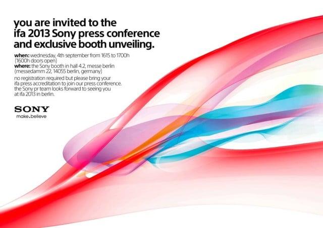 Sony เตรียมเปิดตัว Flagship รุ่นใหม่ 4 กันยายน ที่งาน IFA 2013