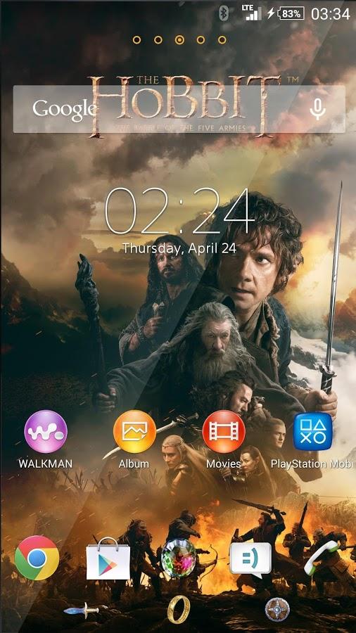"""""""XPERIA™ The Hobbit Theme"""