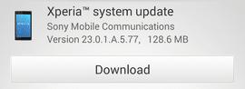 อัพเดทใหม่ (23.0.1.A.5.77)
