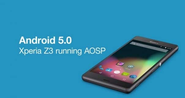 Android 5.0 AOSP สำหรับ Xperia Z3, Z2 และ Z1 มาแล้ว