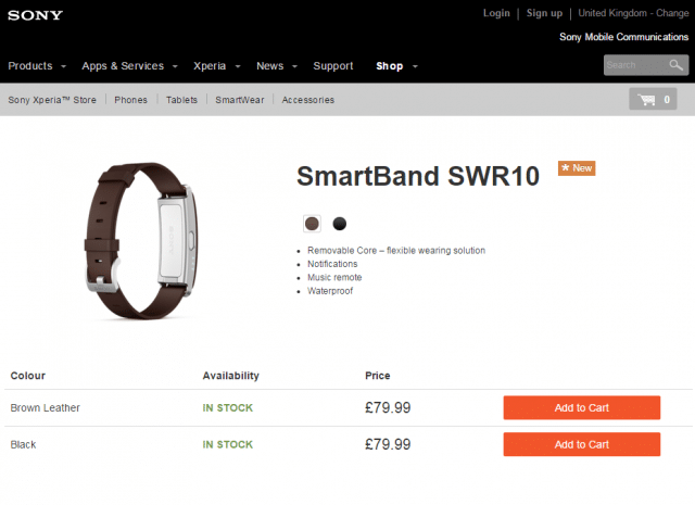 SmartBand SWR10 with Brown Leather strap
