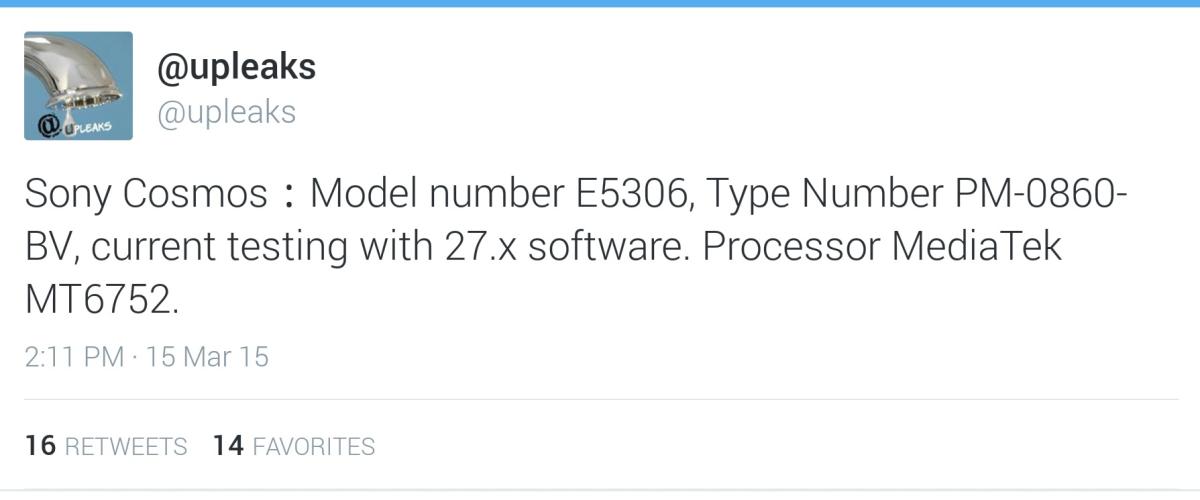"""หลุดข้อมูล Xperia """"Cosmos"""" เพิ่มอีก แรงไม่แพ้ Xperia Z3 เลยทีเดียว"""