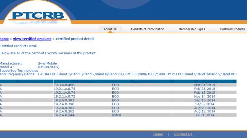 เฟิร์มแวร์ Lollipop หมายเลข 19.3.A.0.468 ของ Xperia C3 ผ่านการรับรองจาก PTCRB แล้ว