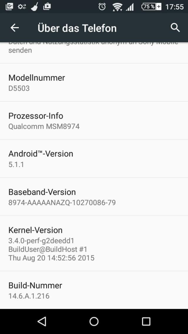 xperia z1 compact lollipop update