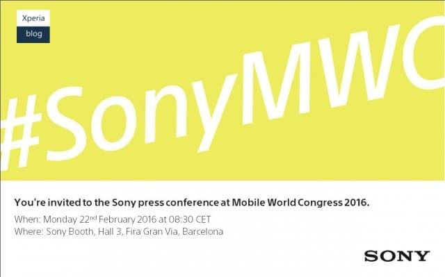 Sony เริ่มร่อนจดหมายเชิญร่วมงาน MWC 2016 แล้ว