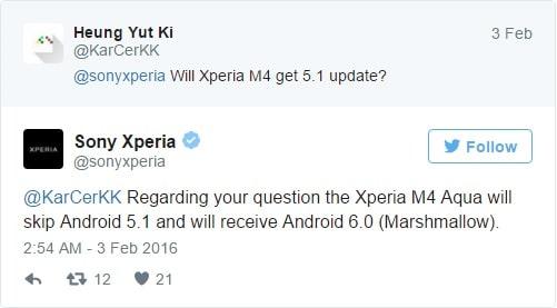 Xperia M5 ได้รับอัพเดท 5.1 Lollipop – M4 Aqua รอข้ามไป 6.0 Marshmallow เลย